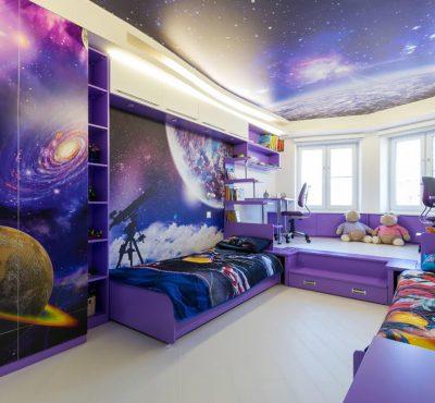 Натяжной потолок в комнату подростка