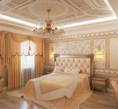 Натяжной потолок в стиле барокко