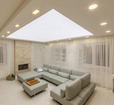 Светопрозрачный натяжной потолок